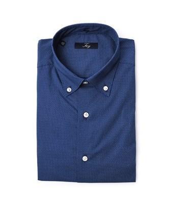 Fay Men's  Blue Cotton Shirt