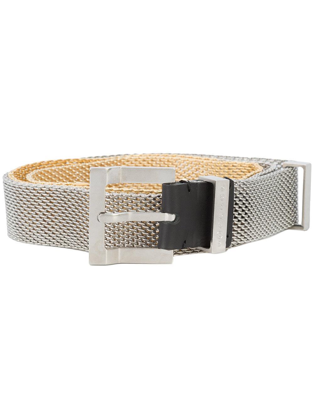 Maison Margiela Mesh Buckled Belt - Grey