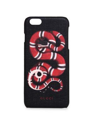 Gucci Snake-print Plastic Iphone 6 Plus Case In Black-red