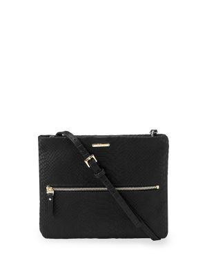 Gigi New York Exotic Leather Crossbody Bag In Black