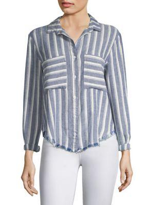 Bella Dahl Striped Button-front Shirt In Zuma Beach Stripe