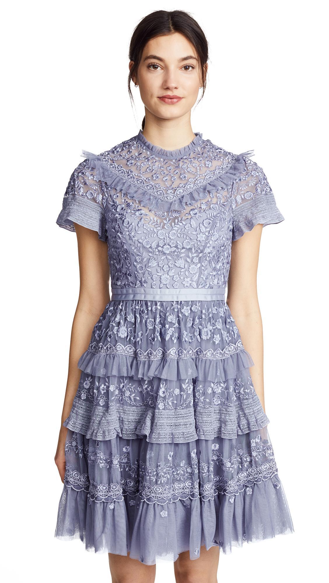 Needle & Thread Iris Dress In Lavender
