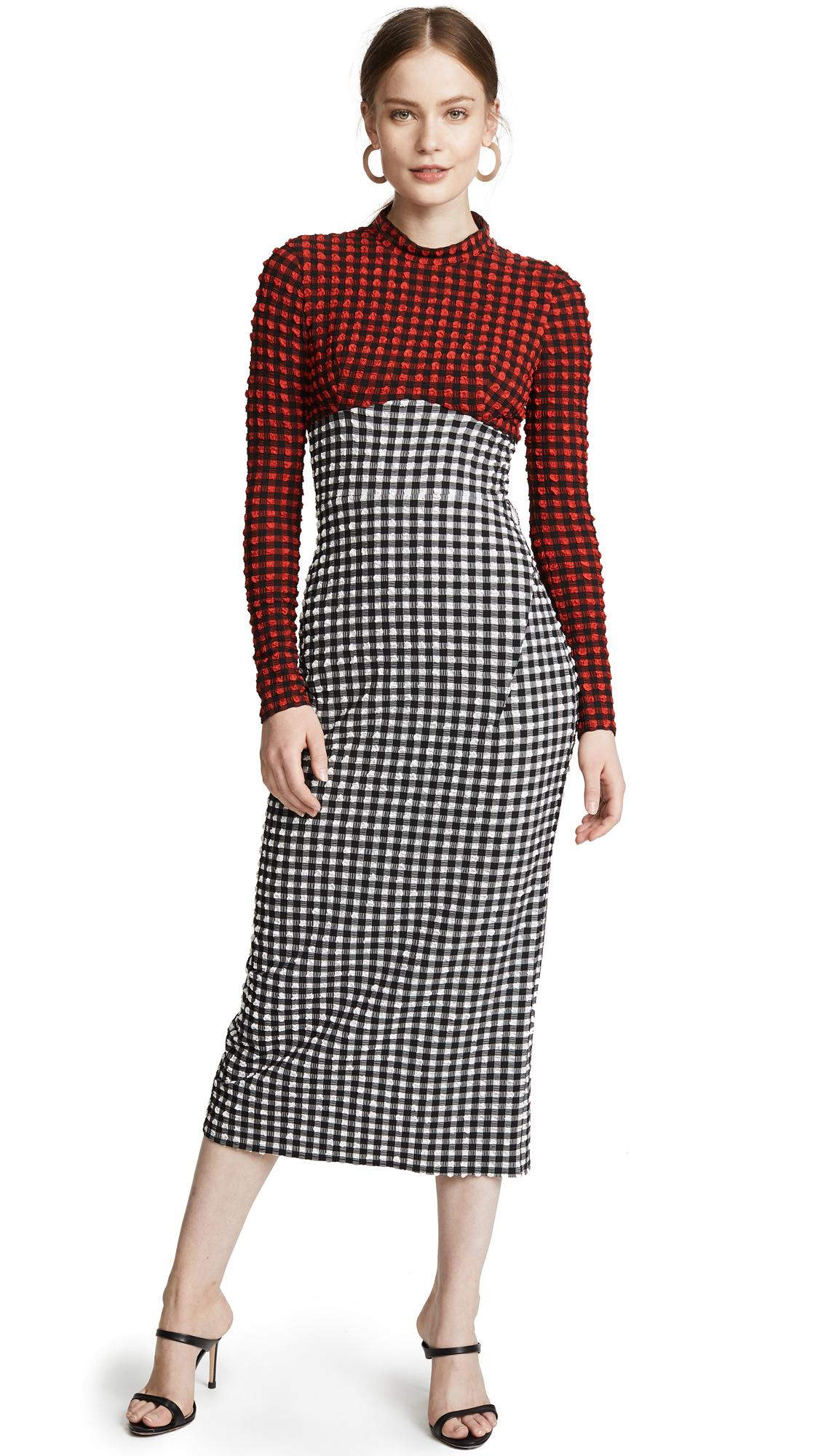 Rachel Comey Converge Dress In Red/black