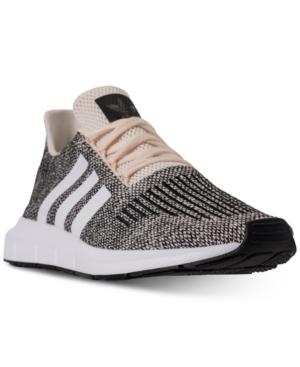 Adidas Originals Adidas Men's Swift Run Casual Sneakers From Finish Line In Ecrtin/white/core Black