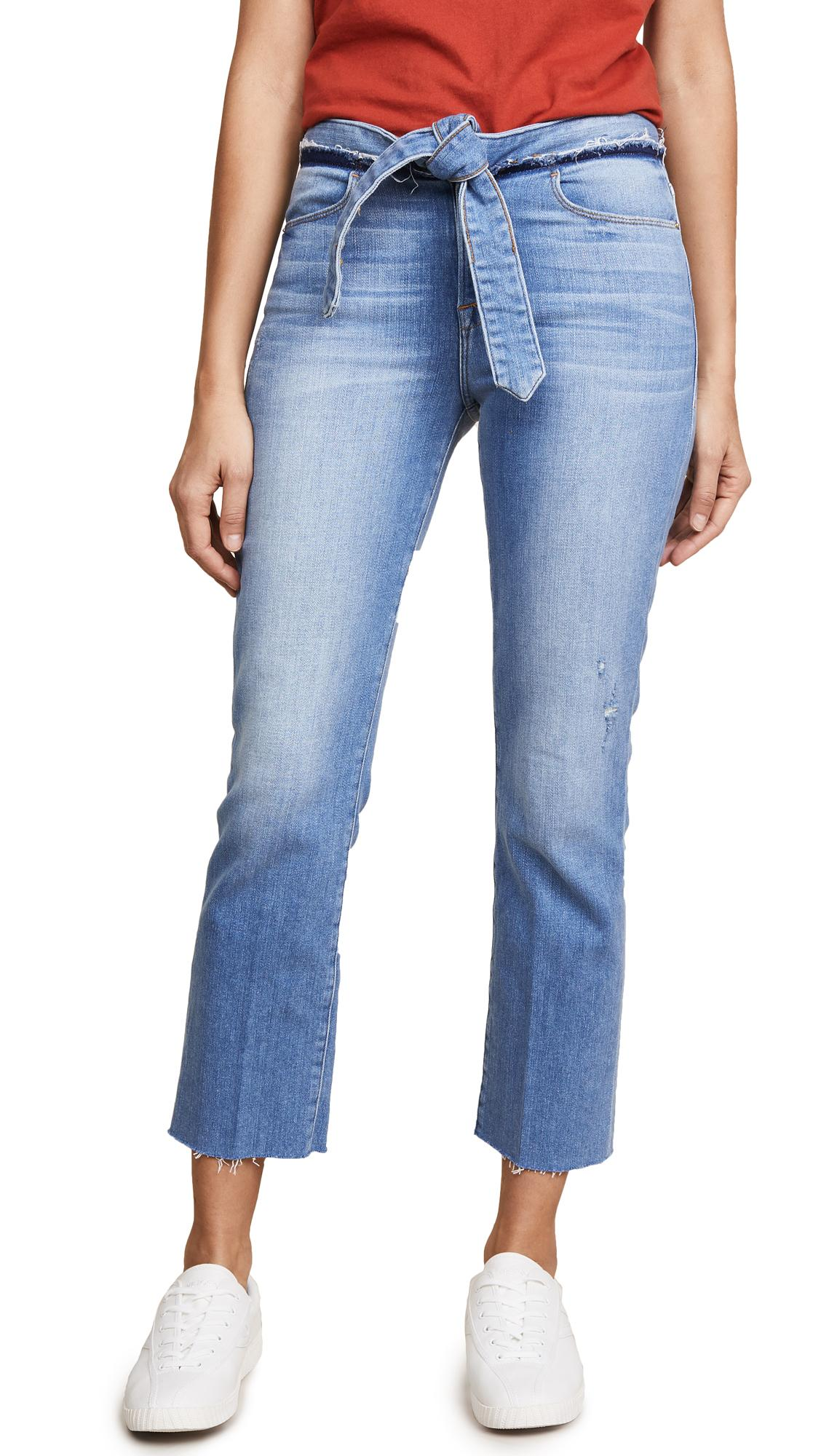 Frame Le High Straight Jeans With Raw Edges In Hannington
