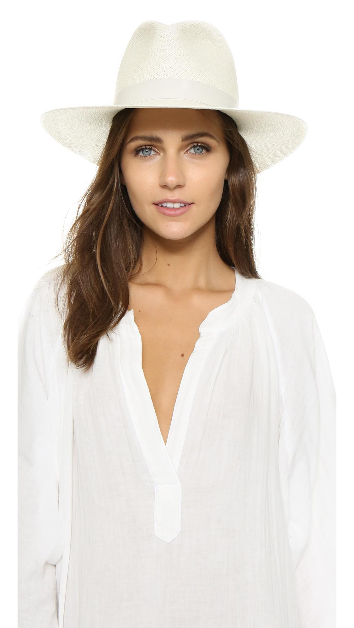 e4321b18 Janessa Leone Aisley Short Brimmed Panama Hat In Bleach   ModeSens
