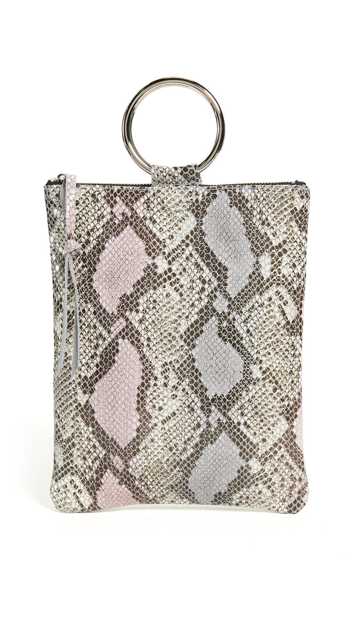 Oliveve Laine Ring Bag In Pink Cobra