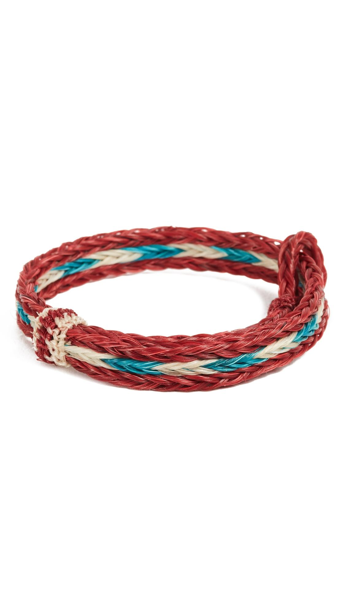 Chamula Hh Braided Bracelet In Red