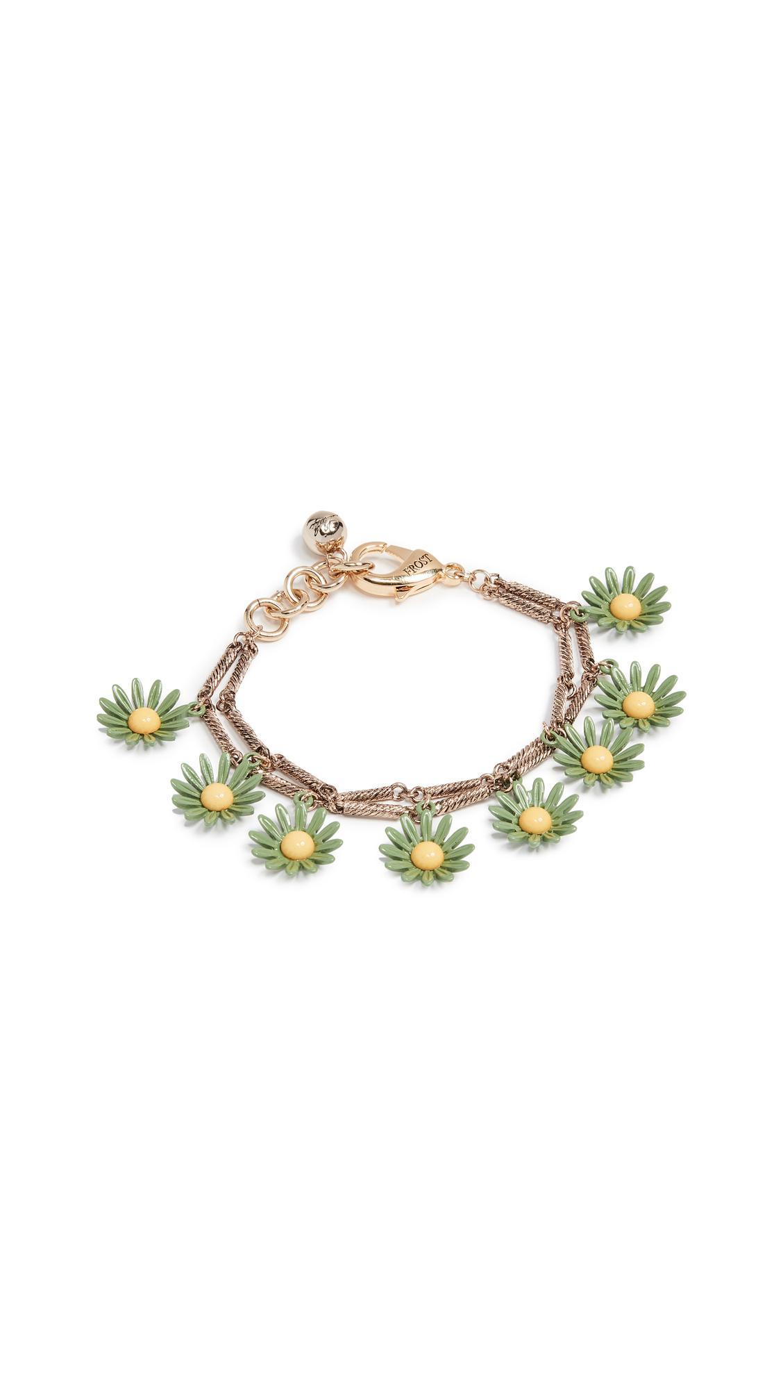 Lulu Frost Moorea Bracelet In Green/yellow