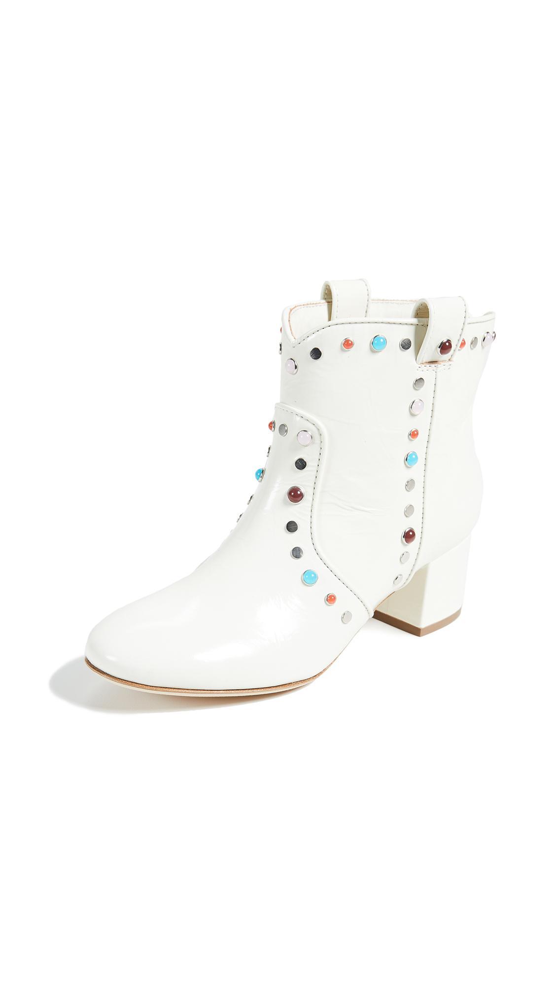 Laurence Dacade Belen Studded Booties In White