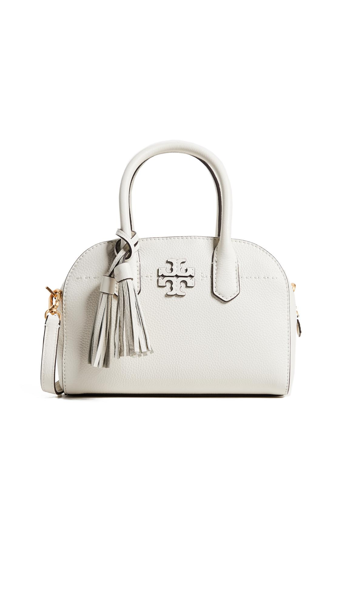 Tory Burch Mcgraw Small Satchel In New Ivory