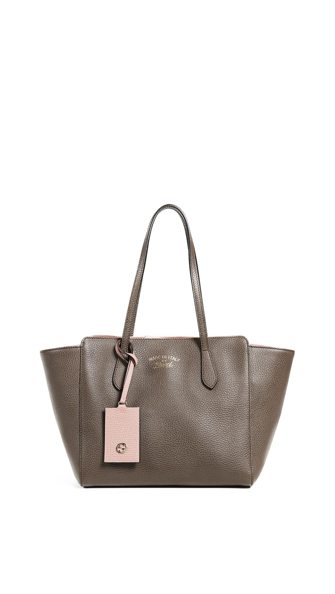 Gucci Swing Tote In Grey