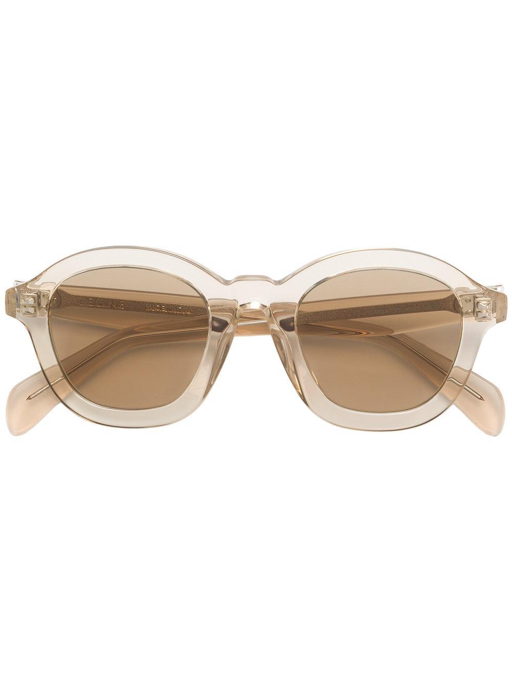Celine Round Frame Sunglasses In White