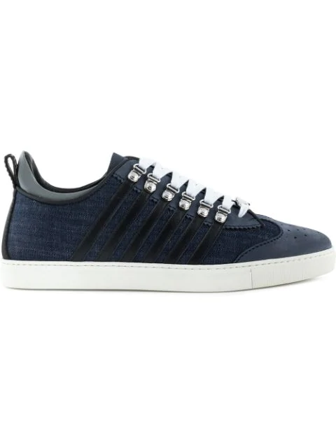 Dsquared2 New Runners Denim Sneakers In Blue
