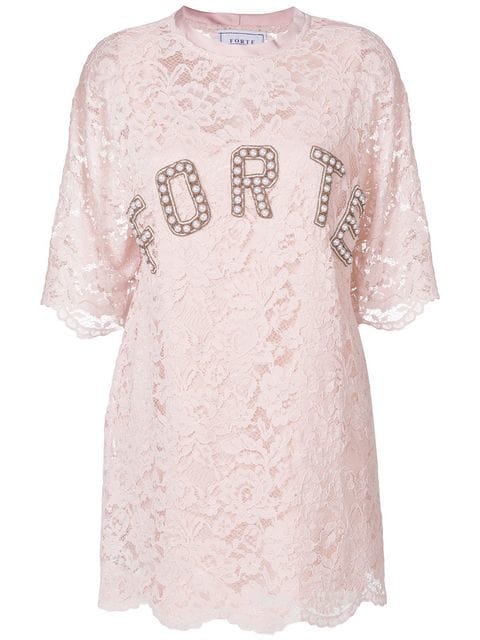 Forte Couture Lace T-shirt Dress