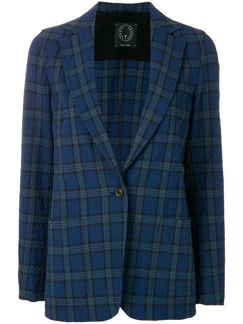 T-jacket Check Blazer