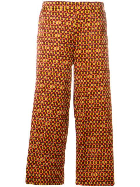 MÊme Geometric Print Cropped Trousers