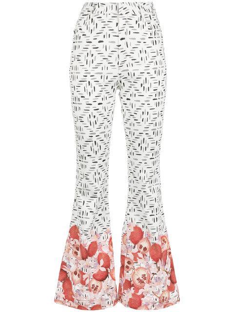 Isolda Selena Flared Trousers In White