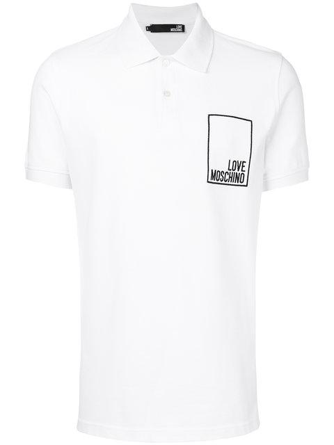 Love Moschino Logo Print Polo Shirt