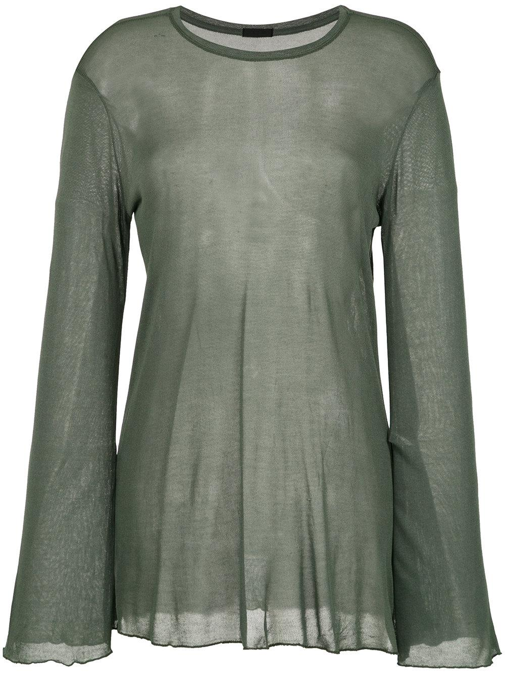 Osklen Super Fine Sheer Blouse In Green
