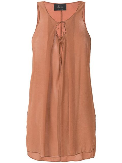 Lost & Found Ria Dunn Flared Tank Top - Brown