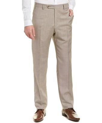 Zanella Devon Wool Trouser In Brown