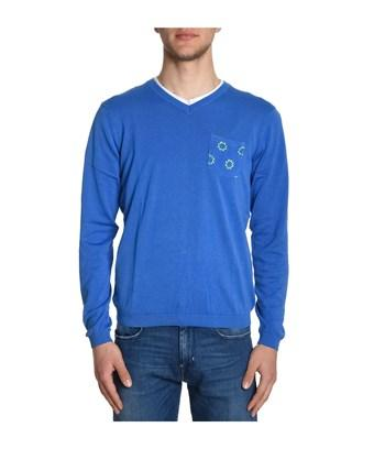 Sun 68 Men's  Blue Cotton Sweatshirt