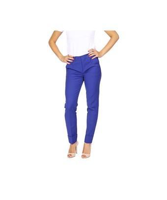 Armani Collezioni Women's  Blue Cotton Pants