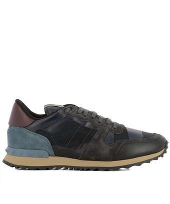 Valentino Garavani Blue Fabric Sneakers