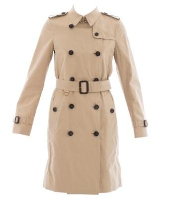 Burberry Beige Cotton Trench In Brown