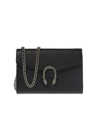 Gucci Women's  Black Leather Shoulder Bag