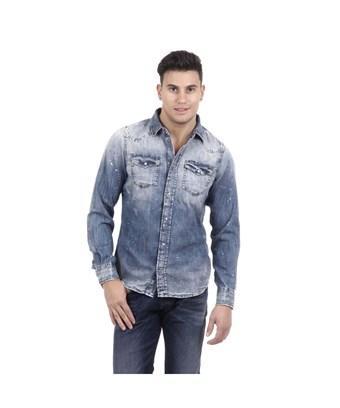 Diesel Men's  Blue Cotton Shirt