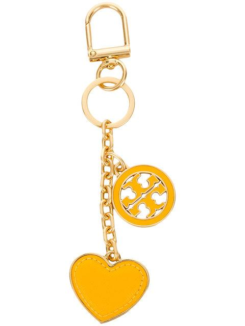 Tory Burch Logo Heart Keyring - Metallic