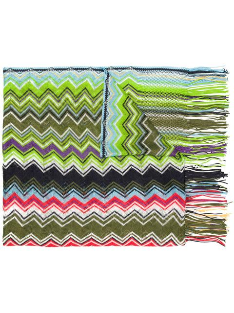 Missoni Embroidered Fringed Scarf