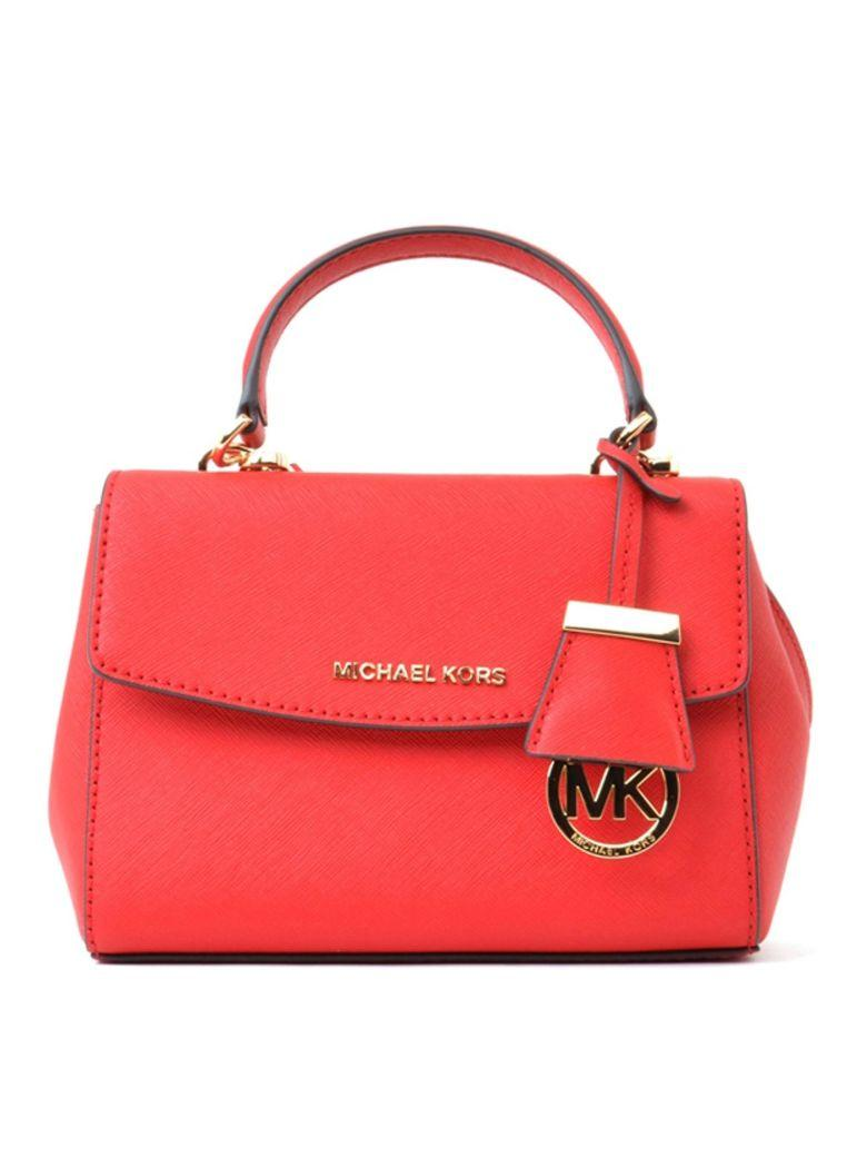 Michael Michael Kors Crossbody In Red Saffiano Leather