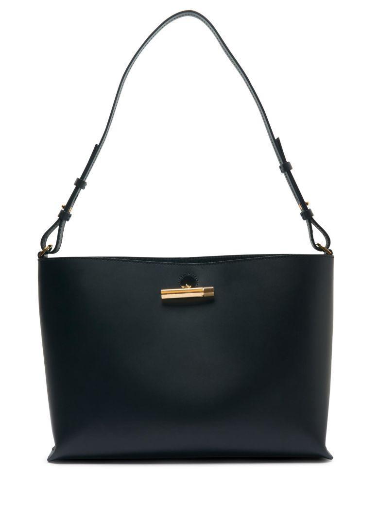 Sophie Hulme Medium Pinch Shoulderback Bag In Black