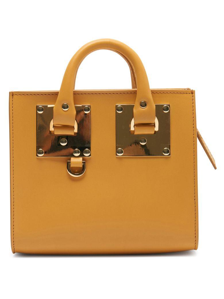 Sophie Hulme Albion Box Tote Bag In Senape