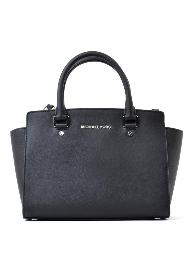 Michael Michael Kors Medium Size In Black Saffiano Leather