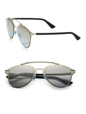 Dior Reflected 52mm Modified Pantos Sunglasses In Light Gold