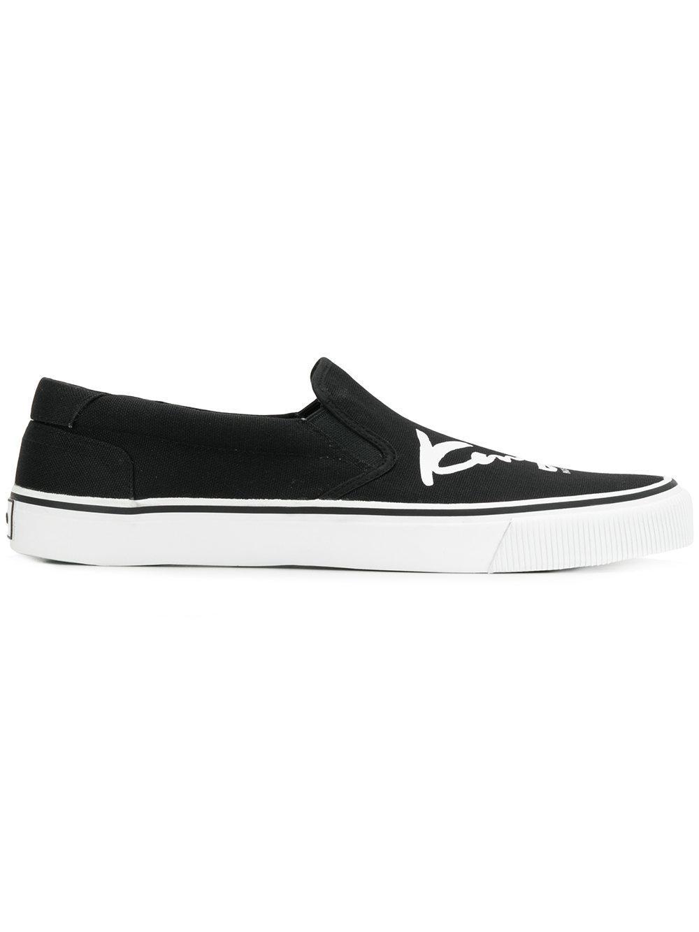 Kenzo Signature Slip-on Sneakers - Black