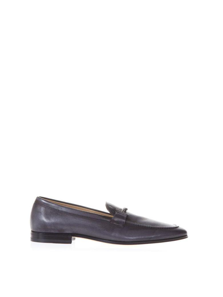 Tod's Double T Black Leather Mocassins