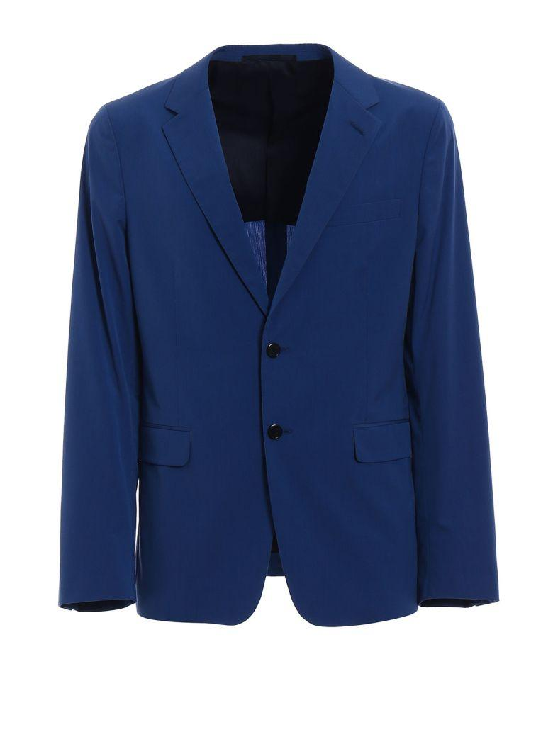 Prada Single Breasted Blazer In Azzurro