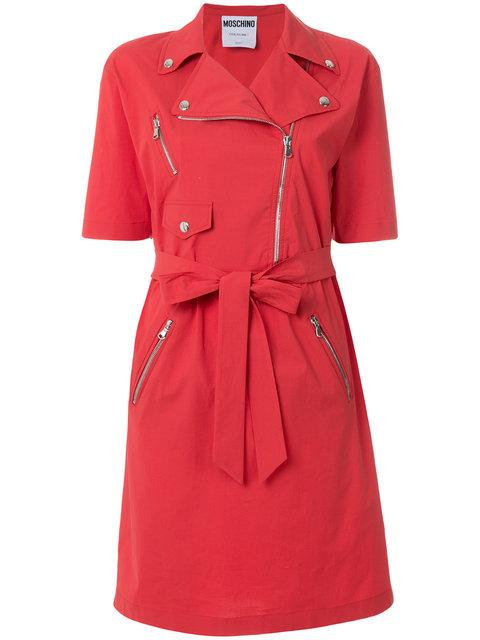 Moschino Trench-inspired Dress In Red