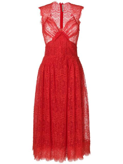 Ermanno Scervino Lace Dress - Red