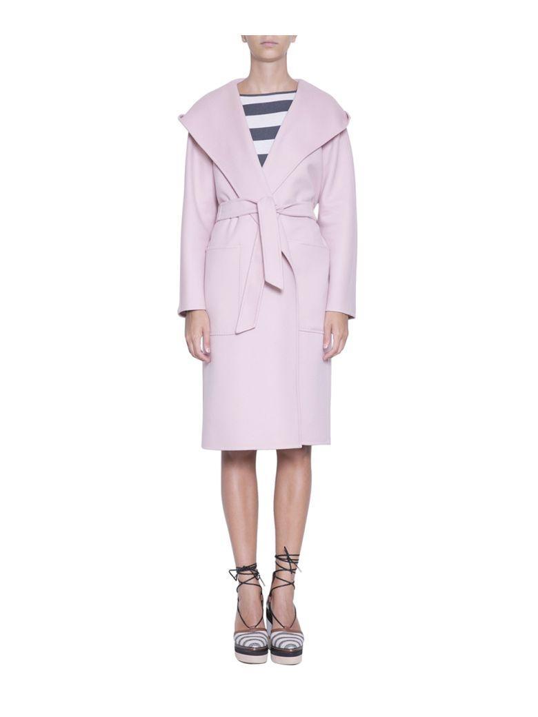Max Mara Mozart Cashmere Coat In Rosa