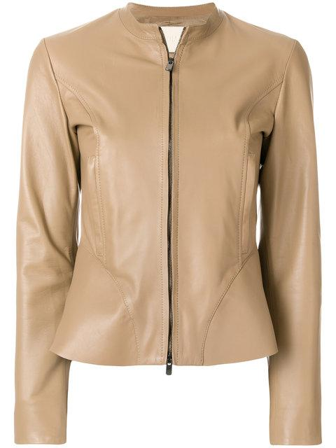 Drome Peplum Leather Jacket