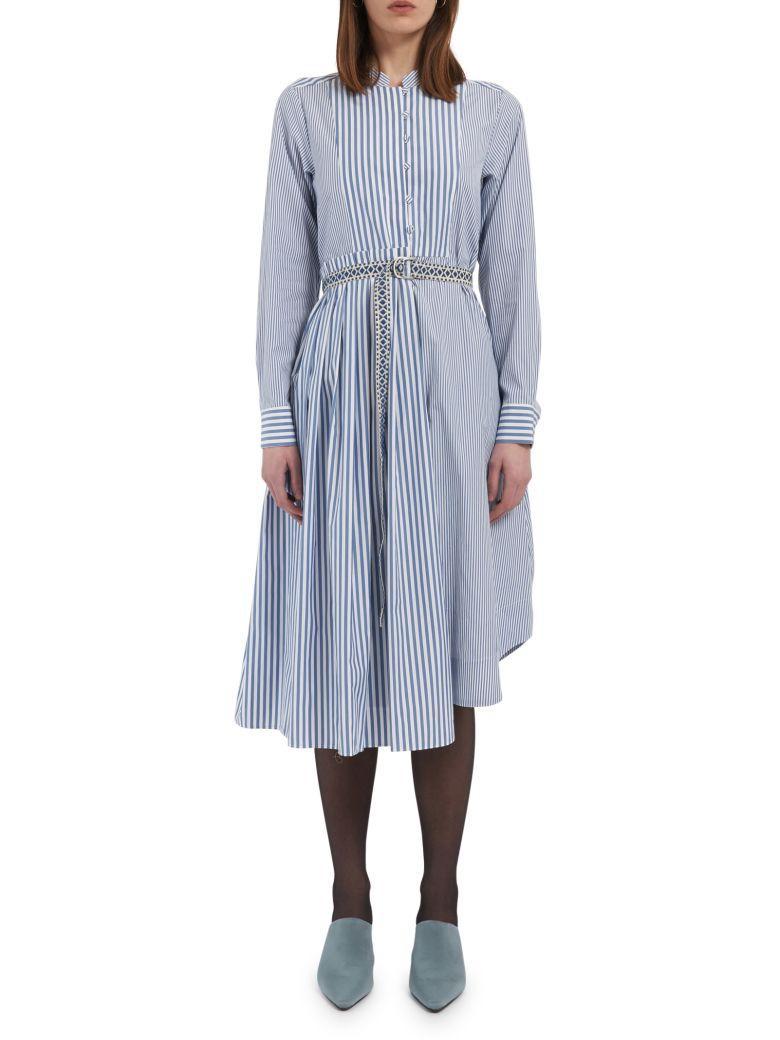 Max Mara Maxmara Weekend Dress In Blu White