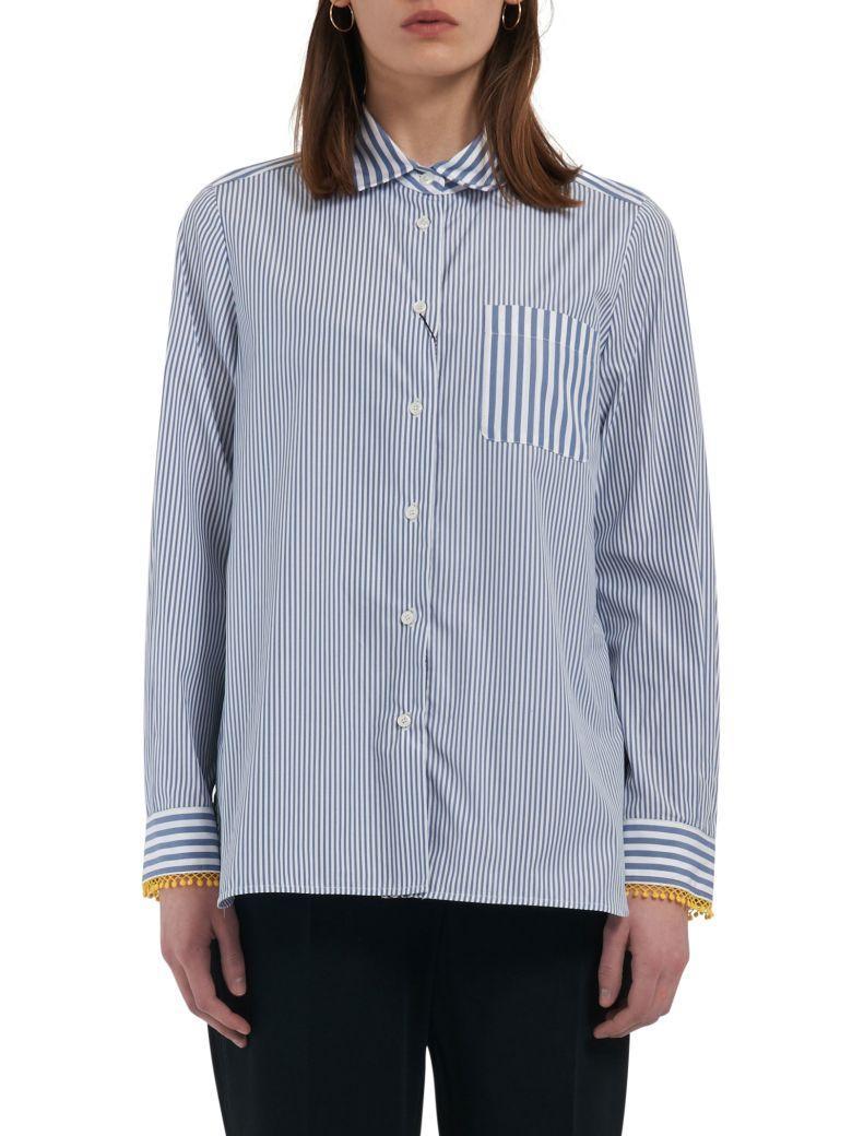 Max Mara Maxmara Weekend Shirt In Blu White