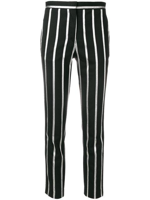 Each X Other Stripe Cropped Trousers - Black
