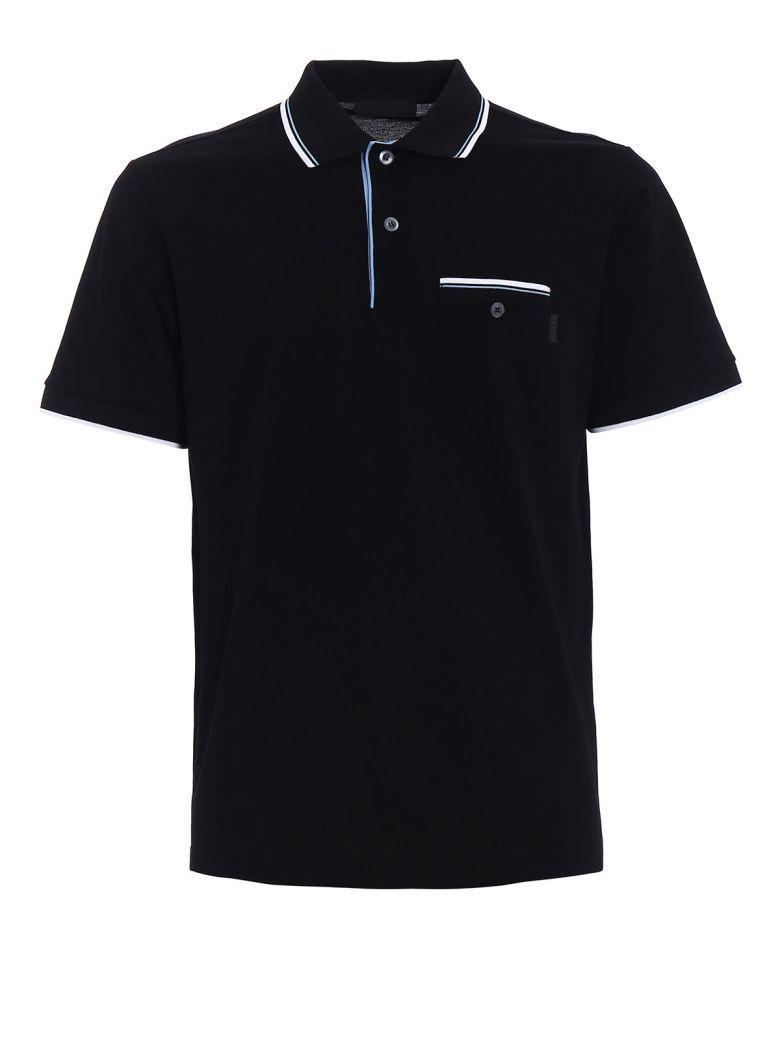 Prada Contrast Polo Shirt